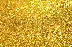festive gold glitter background - stock photo