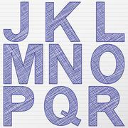 Drawing letter j-r Stock Illustration