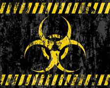 Grunge biohazard sign background Stock Illustration