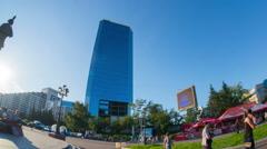 Krasnoyarsk, building, hyperlapse Stock Footage