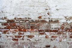 Abstraction of red old brick background Stock Photos