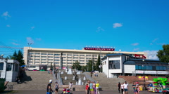 Fountain siberian rivers, Krasnoyarsk, time lapse, hyperlapse Stock Footage