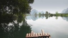 Yulong River rafting Stock Footage