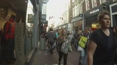 Kalverstraat timelapse Stock Footage