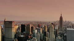 0541 Aerial View of New York at Dusk Stock Footage