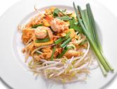 Stock Photo of thai food pad thai , stir fry noodles with shrimp