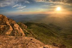 USA, California, Rancho Cuyamaca State Park, San Diego County, Sunset from Stock Photos