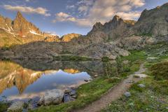 USA, California, Inyo National Forest, Path to Mountains - stock photo