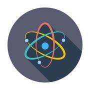 Atom icon - stock illustration