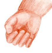 toddler hand - stock illustration
