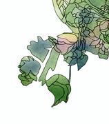 Art nouveau rose decor Stock Illustration