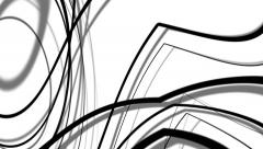 Slow moving black and white curved lines abstract motion background 8.mp4 - stock footage