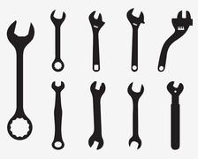 Screw wrench Stock Illustration