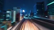 Stock Video Footage of POV time lapse backwards through Tokyo