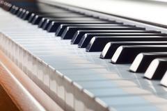 Key fortepiano Stock Photos