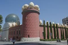 facade of  museum  artist salvador dali spain - stock photo