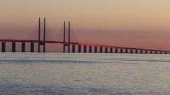 Øresund bridge - Sweden Stock Footage