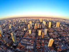 Brazil, Cityscape of south side of Sao Paulo city Stock Photos