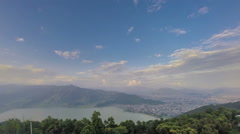 Pokhara town from high up time lapse - stock footage