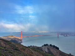 USA, California San Francisco, Elevated view of Golden Gate Bridge Stock Photos