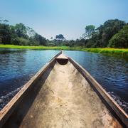 Brazil, North Region, Amazon Canoe Stock Photos