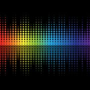 color graphic equalizer - stock illustration