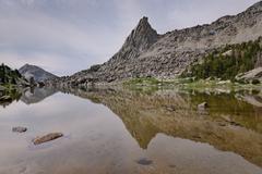 USA, Wyoming, Bridger-Teton National Forest, View of North Lake and Sundance - stock photo