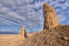 USA, California, Mojave desert, Trona Pinnacles National Natural Landmark - stock photo