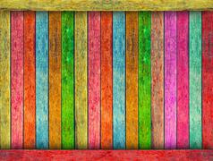 Colorful wood texture background Stock Photos