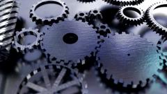 Gear cogs rotating system gearbox watch mechanism Stock Footage