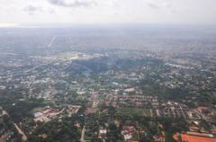 aerial view of accra, ghana - stock photo