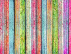 colorful wood texture background - stock photo