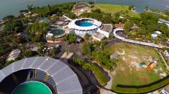 4k aerial video Miami Seaquarium Stock Footage