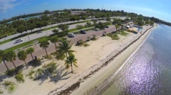 4k aerial video key biscayne - stock footage