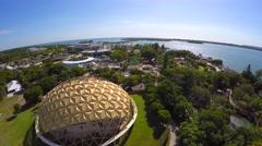 Miami Seaquarium 4k aerial video Stock Footage