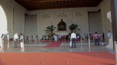 Chiang Kai Shek Memorial hall -  dolly shot red carpet Stock Footage
