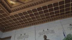 Chiang Kai Shek Memorial hall -  tilt of of statue Stock Footage