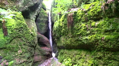 Waterfall - Thuringia - Gorge Stock Footage