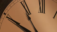Antique Clock Face time lapse Stock Footage