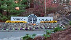 Gordon College Sign Stock Footage