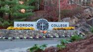 Stock Video Footage of Gordon College Sign
