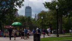 Boston Common and Prudential Center 4K Timelapse Stock Footage