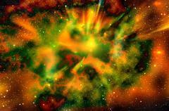 universe space star explosion nebula - stock illustration