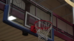 Hoop in Basketball Arena Stock Footage