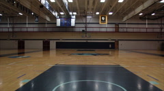 Empty Indoor Basketball Court Stock Footage
