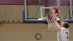 Alley-Oop Off Backboard Dunk Stock Footage