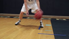 Player Dribbling Basketball Stock Footage