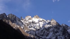 Close up of snow mountain summit Stock Footage