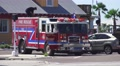 Fire Truck At The Scene Of Car Crash 4K Footage