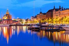 Old Town in Helsinki, Finland - stock photo